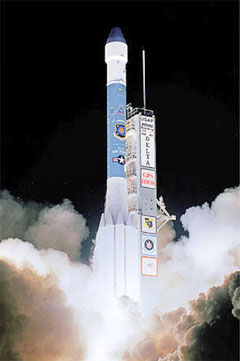 The Delta II rocket was used to launch the GPS satellites